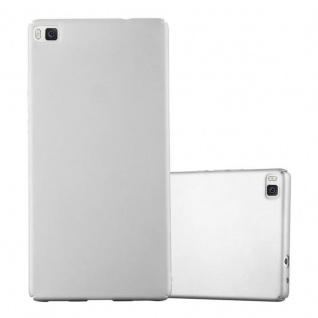 Cadorabo Hülle für Huawei P8 in METALL SILBER - Hardcase Handyhülle aus Plastik gegen Kratzer und Stöße - Schutzhülle Bumper Ultra Slim Back Case Hard Cover