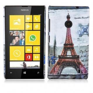 Cadorabo - Hard Cover für Nokia Lumia 520 - Case Cover Schutzhülle Bumper im Design: PARIS - EIFFELTURM