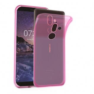 Cadorabo Hülle für Nokia 7 PLUS in TRANSPARENT PINK - Handyhülle aus flexiblem TPU Silikon - Silikonhülle Schutzhülle Ultra Slim Soft Back Cover Case Bumper