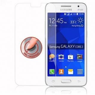 Cadorabo Panzer Folie für Samsung Galaxy CORE 2 - Schutzfolie in KRISTALL KLAR - Gehärtetes (Tempered) Display-Schutzglas in 9H Härte mit 3D Touch Kompatibilität - Vorschau 4