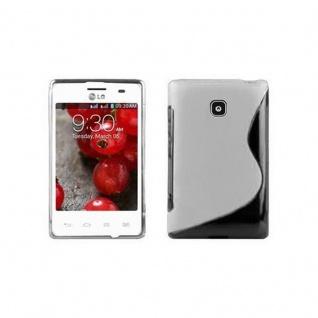 Cadorabo Hülle für LG OPTIMUS L3 (2.Gen) in MAGNESIUM WEIß - Handyhülle aus flexiblem TPU Silikon - Silikonhülle Schutzhülle Ultra Slim Soft Back Cover Case Bumper
