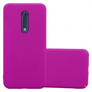 Cadorabo Hülle für Nokia 5 2017 in FROSTY PINK - Hardcase Handyhülle aus Plastik gegen Kratzer und Stöße - Schutzhülle Bumper Ultra Slim Back Case Hard Cover