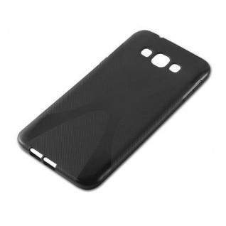 Cadorabo Hülle für Samsung Galaxy A8 2015 in OXID SCHWARZ - Handyhülle aus flexiblem TPU Silikon - Silikonhülle Schutzhülle Ultra Slim Soft Back Cover Case Bumper - Vorschau 2