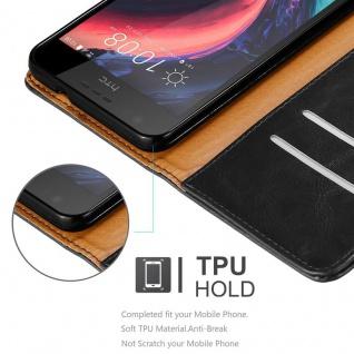 Cadorabo Hülle für HTC Desire 10 Lifestyle / Desire 825 in GRAPHIT SCHWARZ - Handyhülle mit Magnetverschluss, Standfunktion und Kartenfach - Case Cover Schutzhülle Etui Tasche Book Klapp Style - Vorschau 3