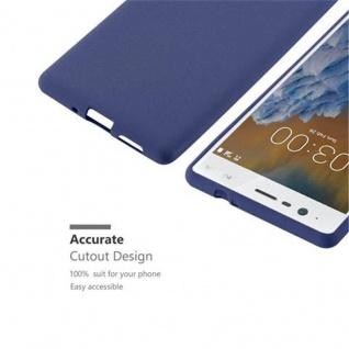 Cadorabo Hülle für Nokia 3 2017 in FROST DUNKEL BLAU - Handyhülle aus flexiblem TPU Silikon - Silikonhülle Schutzhülle Ultra Slim Soft Back Cover Case Bumper - Vorschau 3