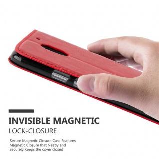 Cadorabo Hülle für Motorola MOTO E3 in APFEL ROT Handyhülle mit Magnetverschluss, Standfunktion und Kartenfach Case Cover Schutzhülle Etui Tasche Book Klapp Style - Vorschau 4