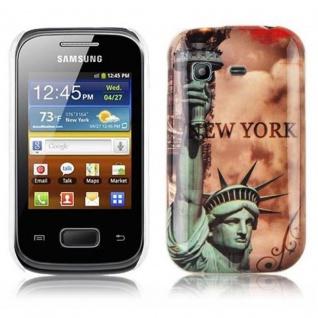 Cadorabo - Hard Cover für Samsung Galaxy POCKET - Case Cover Schutzhülle Bumper im Design: NEW YORK - FREIHEITSSTATUE