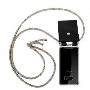 Cadorabo Handy Kette für Samsung Galaxy S8 PLUS in RAINBOW Silikon Necklace Umhänge Hülle mit Silber Ringen, Kordel Band Schnur und abnehmbarem Etui Schutzhülle