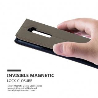 Cadorabo Hülle für LG K10 2016 in STEIN BRAUN ? Handyhülle mit Magnetverschluss, Standfunktion und 2 Sichtfenstern ? Case Cover Schutzhülle Etui Tasche Book Klapp Style - Vorschau 5