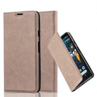 Cadorabo Hülle für Google Pixel 2 XL in KAFFEE BRAUN - Handyhülle mit Magnetverschluss, Standfunktion und Kartenfach - Case Cover Schutzhülle Etui Tasche Book Klapp Style