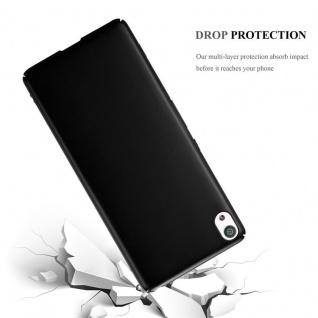 Cadorabo Hülle für Sony Xperia XA in METALL SCHWARZ - Hardcase Handyhülle aus Plastik gegen Kratzer und Stöße - Schutzhülle Bumper Ultra Slim Back Case Hard Cover - Vorschau 3