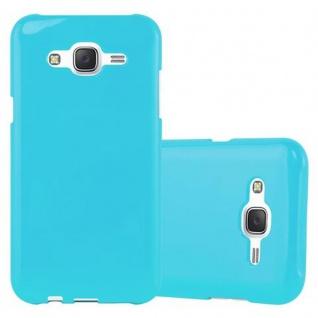 Cadorabo Hülle für Samsung Galaxy J5 2015 in JELLY HELL BLAU ? Handyhülle aus flexiblem TPU Silikon ? Silikonhülle Schutzhülle Ultra Slim Soft Back Cover Case Bumper