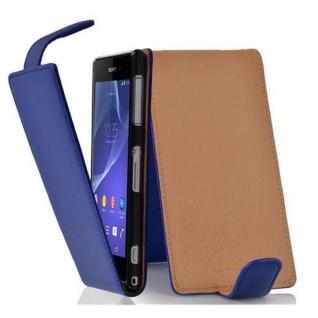 Cadorabo Hülle für Sony Xperia Z2 in KÖNIGS BLAU - Handyhülle im Flip Design aus strukturiertem Kunstleder - Case Cover Schutzhülle Etui Tasche Book Klapp Style