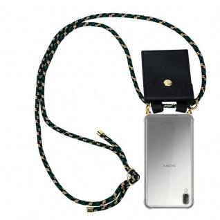 Cadorabo Handy Kette für Sony Xperia L3 in CAMOUFLAGE Silikon Necklace Umhänge Hülle mit Gold Ringen, Kordel Band Schnur und abnehmbarem Etui Schutzhülle