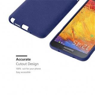 Cadorabo Hülle für Samsung Galaxy NOTE 3 NEO in FROST DUNKEL BLAU - Handyhülle aus flexiblem TPU Silikon - Silikonhülle Schutzhülle Ultra Slim Soft Back Cover Case Bumper - Vorschau 2