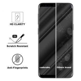 Cadorabo Panzer Folie voll klebend für Samsung Galaxy S9 Plus - Schutzfolie in TRANSPARENT mit SCHWARZ - Gehärtetes Full Glue (Tempered) Display-Schutzglas in 9H Härte mit 3D Touch Kompatibilität - Vorschau 3
