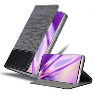 Cadorabo Hülle für Samsung Galaxy A71 5G in GRAU SCHWARZ Handyhülle mit Magnetverschluss, Standfunktion und Kartenfach Case Cover Schutzhülle Etui Tasche Book Klapp Style