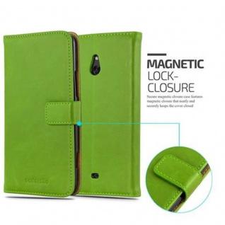 Cadorabo Hülle für Nokia Lumia 1320 in GRAS GRÜN - Handyhülle mit Magnetverschluss, Standfunktion und Kartenfach - Case Cover Schutzhülle Etui Tasche Book Klapp Style - Vorschau 2