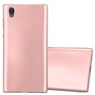 Cadorabo Hülle für Sony Xperia L1 in METALLIC ROSÉ GOLD - Handyhülle aus flexiblem TPU Silikon - Silikonhülle Schutzhülle Ultra Slim Soft Back Cover Case Bumper