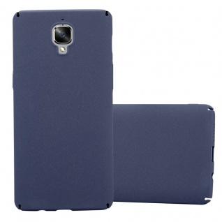 Cadorabo Hülle für OnePlus 3 / 3T in FROSTY BLAU - Hardcase Handyhülle aus Plastik gegen Kratzer und Stöße - Schutzhülle Bumper Ultra Slim Back Case Hard Cover