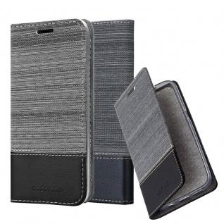 Cadorabo Hülle für Huawei MATE 20 LITE in GRAU SCHWARZ - Handyhülle mit Magnetverschluss, Standfunktion und Kartenfach - Case Cover Schutzhülle Etui Tasche Book Klapp Style
