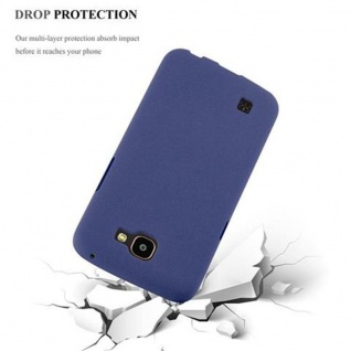Cadorabo Hülle für LG K4 2016 in FROST DUNKEL BLAU - Handyhülle aus flexiblem TPU Silikon - Silikonhülle Schutzhülle Ultra Slim Soft Back Cover Case Bumper - Vorschau 4