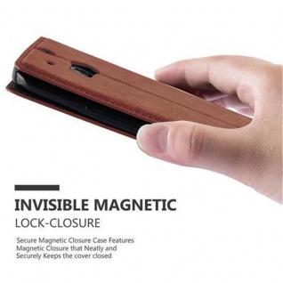 Cadorabo Hülle für HTC ONE M8 (2.Generation) in CAPPUCCINO BRAUN - Handyhülle mit Magnetverschluss, Standfunktion und Kartenfach - Case Cover Schutzhülle Etui Tasche Book Klapp Style - Vorschau 5
