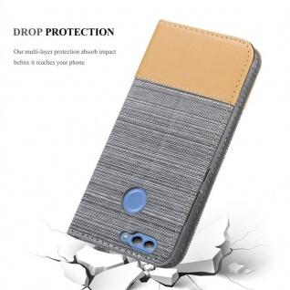 Cadorabo Hülle für Huawei NOVA 2 in HELL GRAU BRAUN - Handyhülle mit Magnetverschluss, Standfunktion und Kartenfach - Case Cover Schutzhülle Etui Tasche Book Klapp Style - Vorschau 5