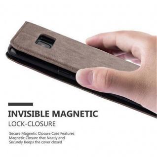 Cadorabo Hülle für Samsung Galaxy S8 PLUS in KAFFEE BRAUN - Handyhülle mit Magnetverschluss, Standfunktion und Kartenfach - Case Cover Schutzhülle Etui Tasche Book Klapp Style - Vorschau 5