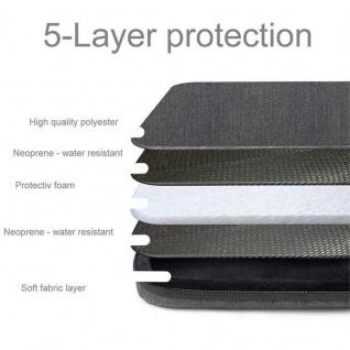 Cadorabo Laptop / Tablet Tasche 14'' Zoll in DUNKEL GRAU ? Notebook Computer Tasche aus Stoff mit Samt-Innenfutter und Fach mit Anti-Kratz Reißverschluss ? Schutzhülle Sleeve Case - Vorschau 3