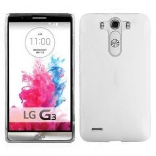 Cadorabo Hülle für LG G3 in HALB TRANSPARENT ? Handyhülle aus flexiblem TPU Silikon ? Silikonhülle Schutzhülle Ultra Slim Soft Back Cover Case Bumper