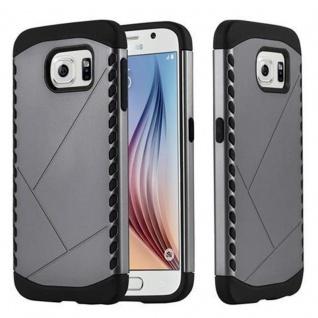 Cadorabo Hülle für Samsung Galaxy S6 - Hülle in GUARDIAN GRAU - Hard Case TPU Silikon Schutzhülle für Hybrid Cover im Outdoor Heavy Duty Design