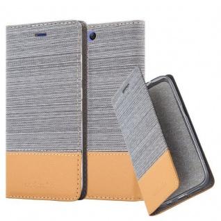 Cadorabo Hülle für Xiaomi Mi 6 in HELL GRAU BRAUN Handyhülle mit Magnetverschluss, Standfunktion und Kartenfach Case Cover Schutzhülle Etui Tasche Book Klapp Style