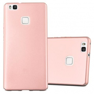 Cadorabo Hülle für Huawei P9 LITE in METALL ROSE GOLD - Hardcase Handyhülle aus Plastik gegen Kratzer und Stöße - Schutzhülle Bumper Ultra Slim Back Case Hard Cover