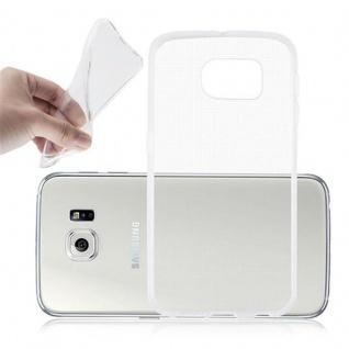 Cadorabo Hülle für Samsung Galaxy S6 in VOLL TRANSPARENT - Handyhülle aus flexiblem TPU Silikon - Silikonhülle Schutzhülle Ultra Slim Soft Back Cover Case Bumper