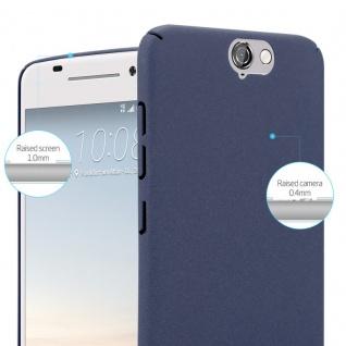 Cadorabo Hülle für HTC One A9 in FROSTY BLAU - Hardcase Handyhülle aus Plastik gegen Kratzer und Stöße - Schutzhülle Bumper Ultra Slim Back Case Hard Cover - Vorschau 3