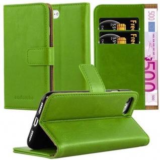 Cadorabo Hülle für Apple iPhone 7 / iPhone 7S / iPhone 8 in GRASS GRÜN - Handyhülle mit Magnetverschluss, Standfunktion und Kartenfach - Case Cover Schutzhülle Etui Tasche Book Klapp Style
