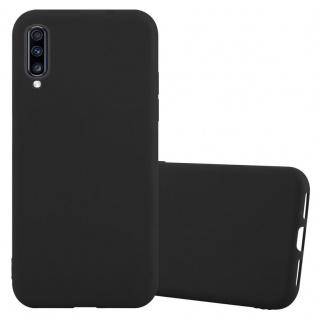 Cadorabo Hülle für Samsung Galaxy A70 in CANDY SCHWARZ - Handyhülle aus flexiblem TPU Silikon - Silikonhülle Schutzhülle Ultra Slim Soft Back Cover Case Bumper
