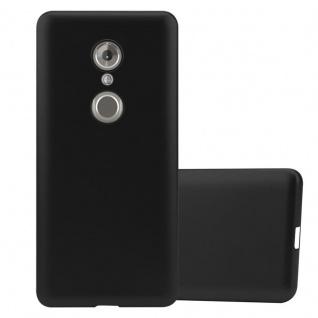 Cadorabo Hülle für ZTE Axon 7 MINI in METALLIC SCHWARZ - Handyhülle aus flexiblem TPU Silikon - Silikonhülle Schutzhülle Ultra Slim Soft Back Cover Case Bumper