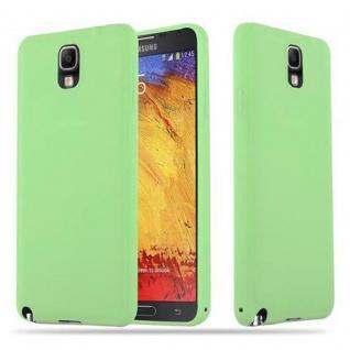 Cadorabo Hülle für Samsung Galaxy NOTE 3 in CANDY PASTELL GRÜN - Handyhülle aus flexiblem TPU Silikon - Silikonhülle Schutzhülle Ultra Slim Soft Back Cover Case Bumper