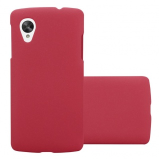 Cadorabo Hülle für LG Nexus 5 in FROSTY ROT - Hardcase Handyhülle aus Plastik gegen Kratzer und Stöße - Schutzhülle Bumper Ultra Slim Back Case Hard Cover