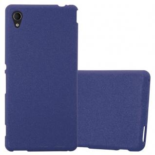 Cadorabo Hülle für Sony Xperia M4 AQUA in FROST DUNKEL BLAU - Handyhülle aus flexiblem TPU Silikon - Silikonhülle Schutzhülle Ultra Slim Soft Back Cover Case Bumper