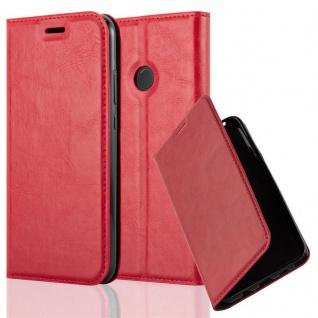 Cadorabo Hülle für Huawei P20 LITE in APFEL ROT Handyhülle mit Magnetverschluss, Standfunktion und Kartenfach Case Cover Schutzhülle Etui Tasche Book Klapp Style