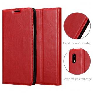 Cadorabo Hülle kompatibel mit ZTE Blade A3 2020 in APFEL ROT Handyhülle mit Magnetverschluss, Standfunktion und Kartenfach Case Cover Schutzhülle Etui Tasche Book Klapp Style - Vorschau 5