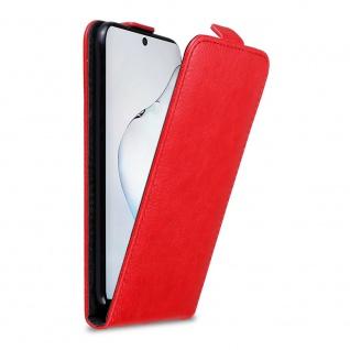 Cadorabo Hülle für Samsung Galaxy NOTE 10 in APFEL ROT Handyhülle im Flip Design mit Magnetverschluss Case Cover Schutzhülle Etui Tasche Book Klapp Style