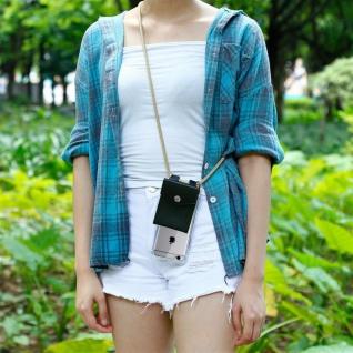 Cadorabo Handy Kette für Apple iPhone 6 PLUS / iPhone 6S PLUS in GLÄNZEND BRAUN - Silikon Necklace Umhänge Hülle mit Silber Ringen, Kordel Band Schnur und abnehmbarem Etui - Schutzhülle - Vorschau 4