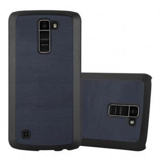 Cadorabo Hülle für LG K10 2016 in WOODY BLAU - Hardcase Handyhülle aus Plastik gegen Kratzer und Stöße - Schutzhülle Bumper Ultra Slim Back Case Hard Cover