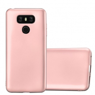 Cadorabo Hülle für LG G6 in METALLIC ROSE GOLD Handyhülle aus flexiblem TPU Silikon Silikonhülle Schutzhülle Ultra Slim Soft Back Cover Case Bumper