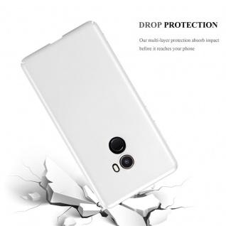 Cadorabo Hülle für Xiaomi Mi Mix 2 in METALL SILBER - Hardcase Handyhülle aus Plastik gegen Kratzer und Stöße - Schutzhülle Bumper Ultra Slim Back Case Hard Cover - Vorschau 3
