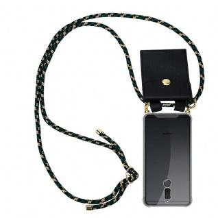 Cadorabo Handy Kette für Huawei MATE 10 / NOVA 2i in CAMOUFLAGE - Silikon Necklace Umhänge Hülle mit Gold Ringen, Kordel Band Schnur und abnehmbarem Etui ? Schutzhülle